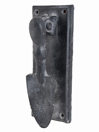 Heurtoir marteau de porte pelle grise