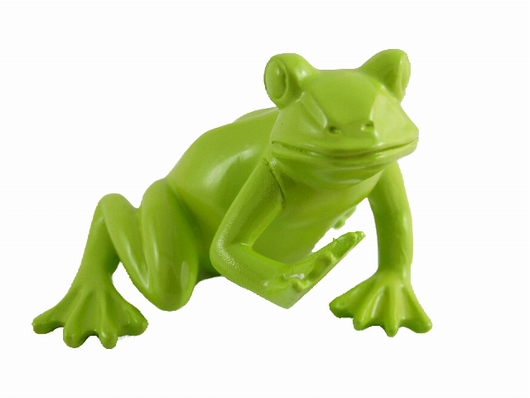 Grenouille assise verte r sine lintemporel for Decoration jardin grenouille