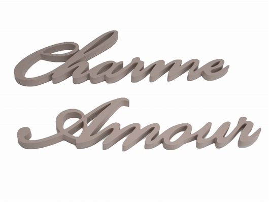 Lettres Amour/Charme Jade
