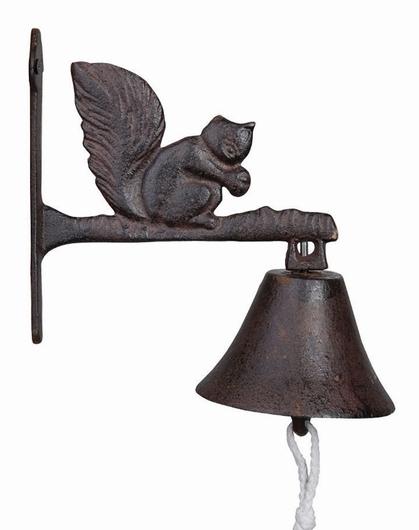 Cloche de porte écureuil