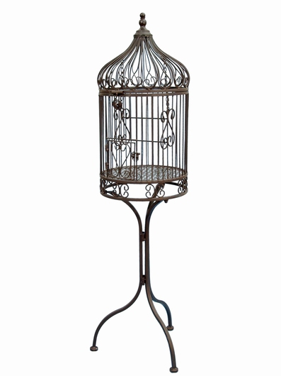 acheter cage oiseaux fer forg pour plantes pas cher lintemporel. Black Bedroom Furniture Sets. Home Design Ideas