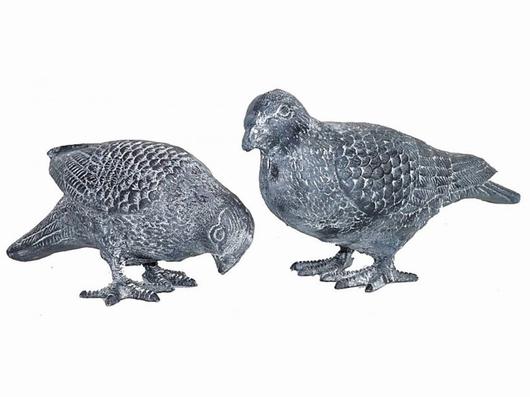 Couple pigeons gris - Deco jardin