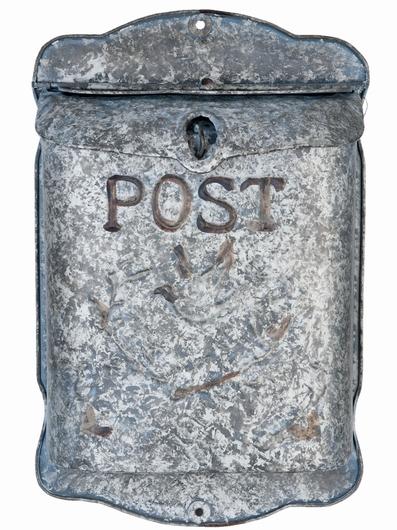 Boite aux lettres grise style rétro - Post