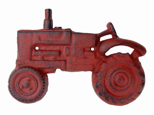 Décapsuleur mural rouge antique- Tracteur