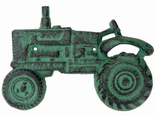 Ouvre bouteille mural vert antique - Tracteur