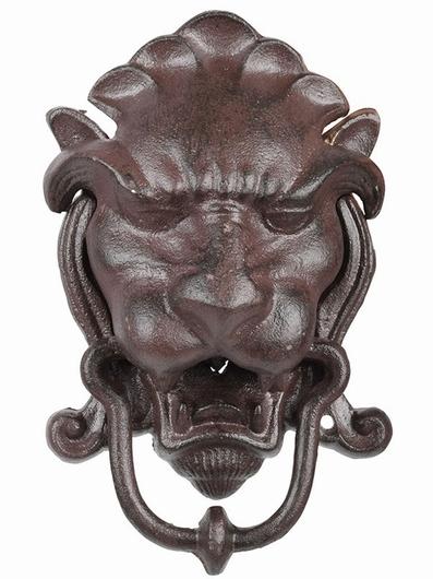 Heurtoir fonte trophée tête de lion