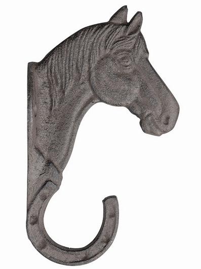 Crochet mural fer à cheval fonte