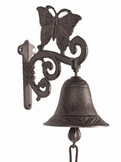 Support cloche d'entrée motif papillon