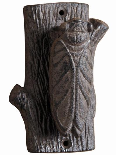 Heurtoir de porte - Tronc d'arbre & Cigale