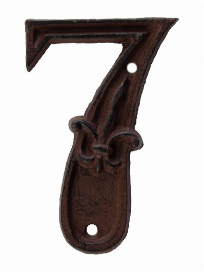 Numéro 7 pour porte de maison