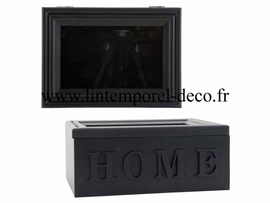 acheter bo te bijoux vitrine inscription home pas cher lintemporel. Black Bedroom Furniture Sets. Home Design Ideas