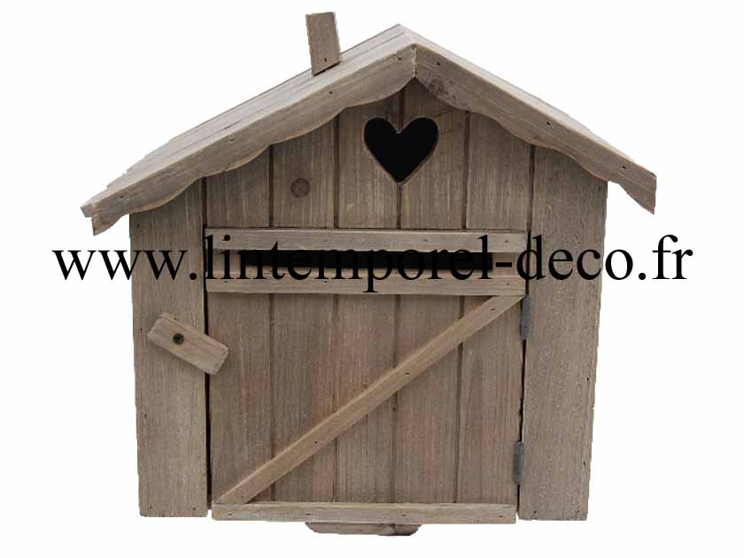 boite aux lettres en bois forme chalet. Black Bedroom Furniture Sets. Home Design Ideas