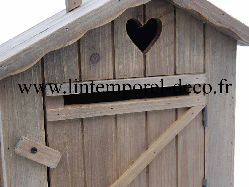 boite aux lettres maison bois achat vente lintemporel. Black Bedroom Furniture Sets. Home Design Ideas