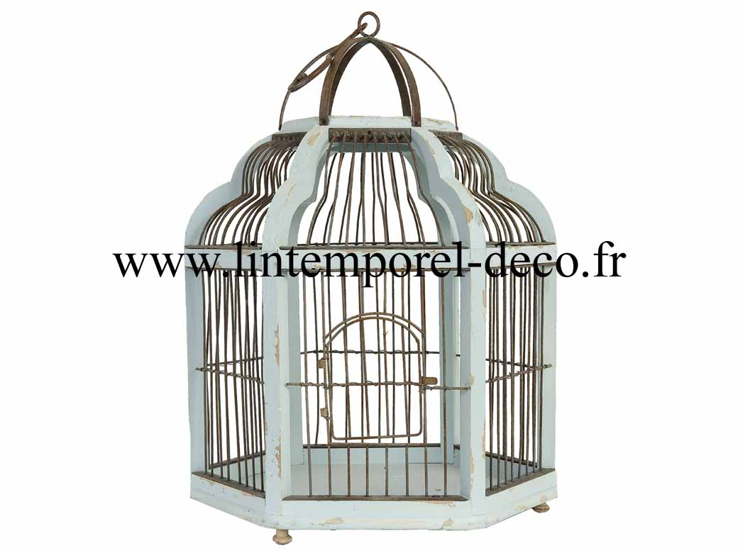 cage oiseaux deco d 39 autrefois en bois lintemporel. Black Bedroom Furniture Sets. Home Design Ideas
