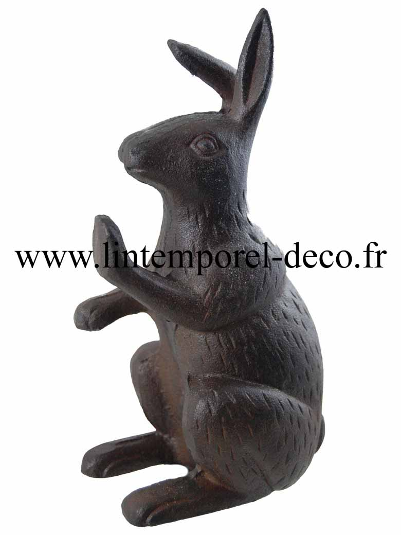 Cale porte statuette lapin fonte lintemporel for Decoration porte lapin