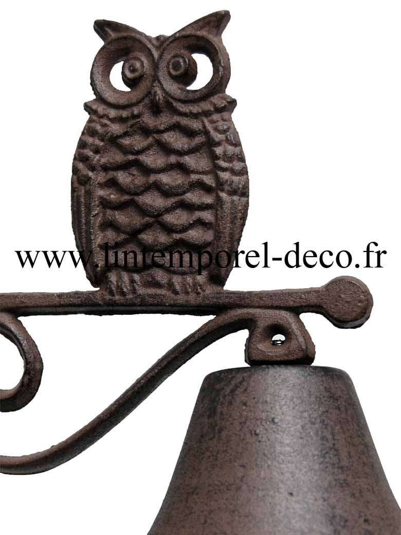 cloche de porte hibou grand duc lintemporel. Black Bedroom Furniture Sets. Home Design Ideas