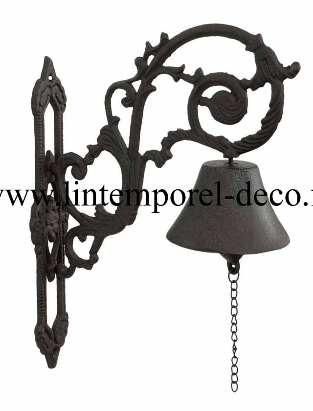 cloche de porte entr e effet fonte vieillie lintemporel. Black Bedroom Furniture Sets. Home Design Ideas