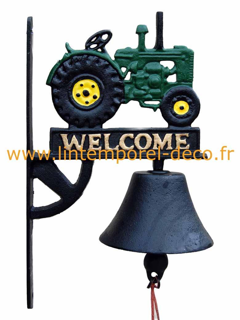 Cloche de porte v hicule tracteur vert acheter pas cher lintemporel - Acheter une cloche de porte ...