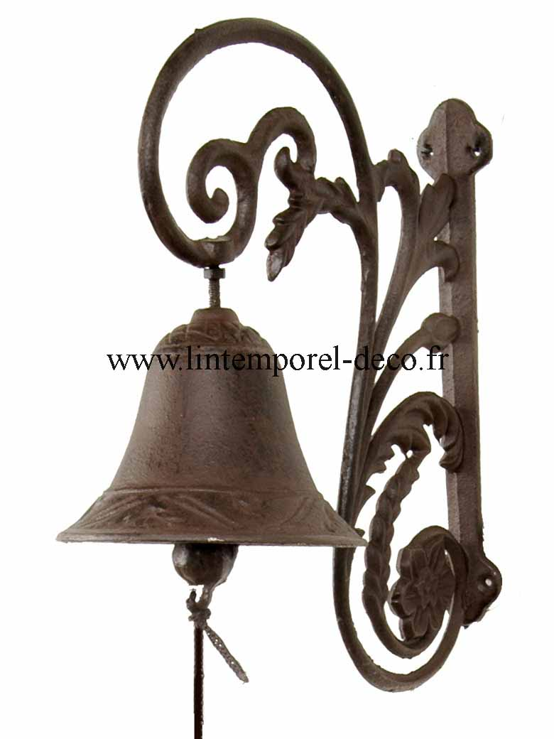 cloche de porte volute antique lintemporel. Black Bedroom Furniture Sets. Home Design Ideas
