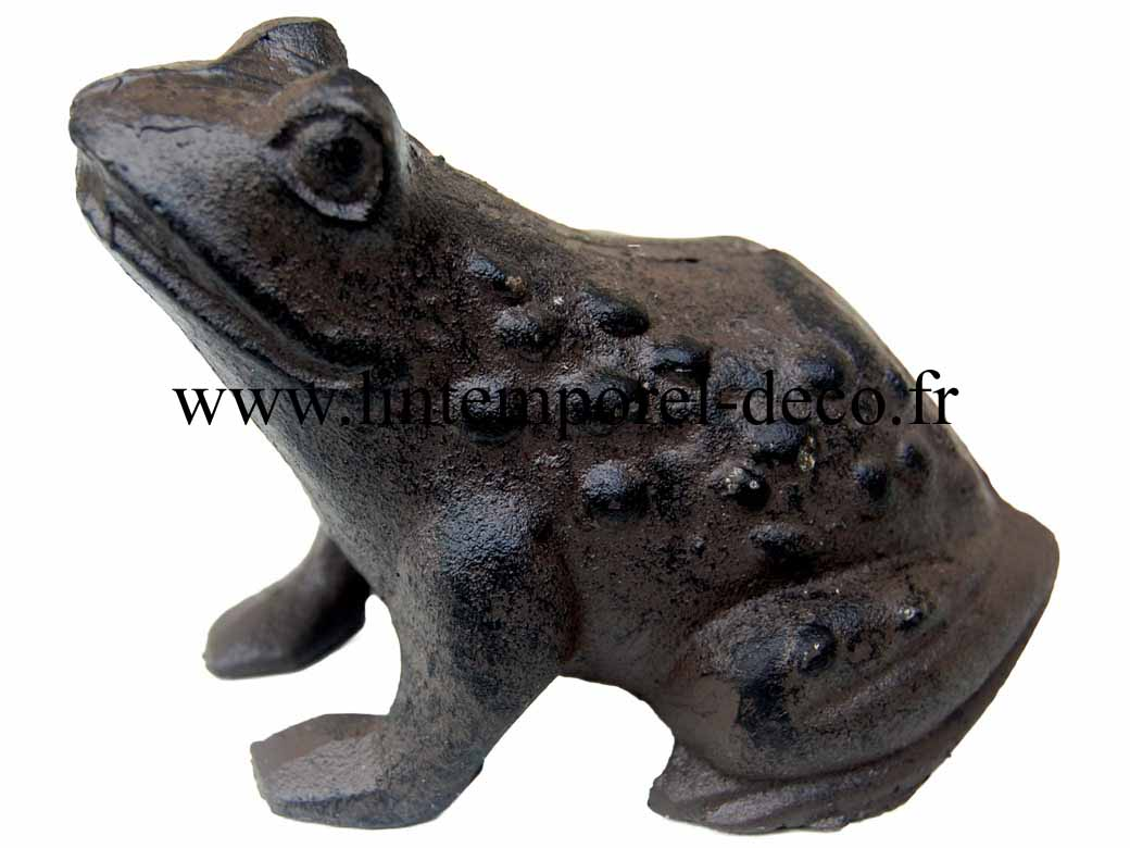 Grenouille d corative en fonte de jardin lintemporel for Grenouille jardin deco