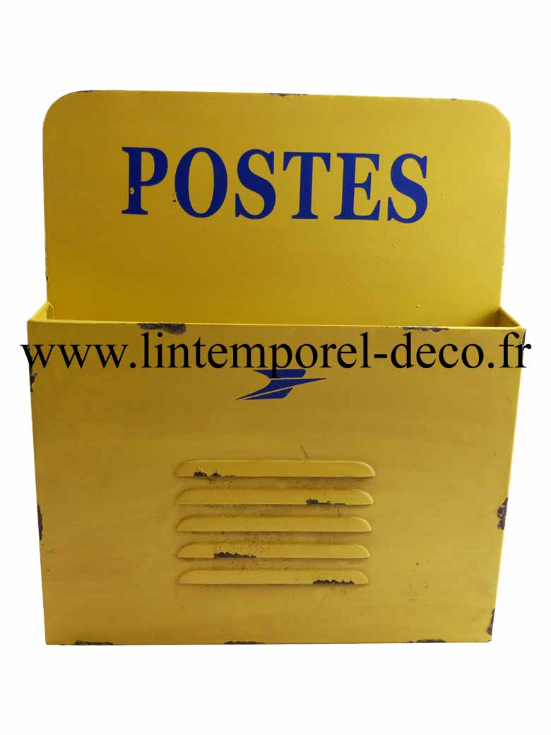 Range courrier mural jaune postes lintemporel for Range courrier mural industriel