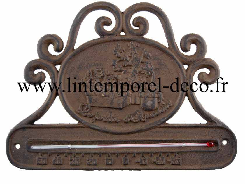 Thermom tre jardin en fonte lintemporel for Objet deco jardin fonte