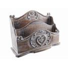 Range courrier bois sculpté - Coeur
