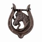 Heurtoir de porte cheval fonte