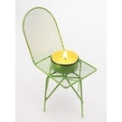 Mini chaise tea light verte