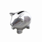 Tirelire cochon chrome PM