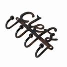 Patère 4 crochets inscription clefs