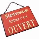 Plaque de boutique message / Ouvert - Fermé