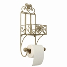 Support papier toilette multi-fleurs fer