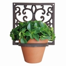 Porte pot mural carré pour plante