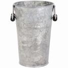 Vase seau avec poignées finition vieux zinc