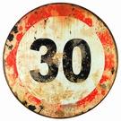 Panneau routier de signalisation 30