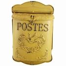Boite aux lettres jaune antique - Postes