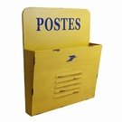 Range courrier mural jaune - Postes