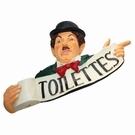 Panneau Charlot en polyrésine - Toilettes