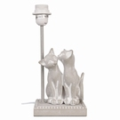 Pied lampe de table decor chats gris