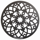 Déco de table aluminium motif arabesque