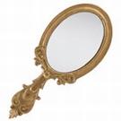 Miroir à main vintage motif arabesque