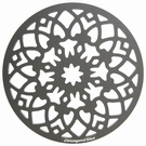 Dessous de plat design en aluminium