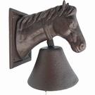 Cloche de porte tête de cheval