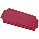 Plaque de porte Toilette rouge antique