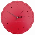 Pendule aluminium ronde rouge antique