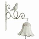 Clochette sur potence décor oiseau