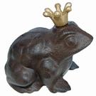 Crapaud en fonte couronne dorée - Royal