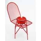 Mini chaise tea light rouge