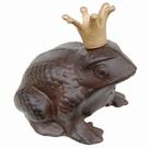 Grenouille goliath fonte avec couronne